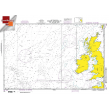 """Miscellaneous International :NGA Chart 102: Western Apprs. To The British Isles, Approx. Size 21"""" x 31"""" (SMALL FORMAT WATERPROOF)"""