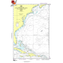 """Miscellaneous International :NGA Chart 108: Southeast Cst.N.Amer.Incl.Bahamas Int.40, Approx. Size 21"""" x 31"""" (SMALL FORMAT WATERPROOF)"""