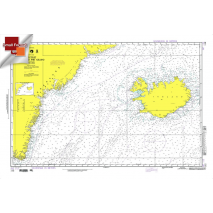"""Miscellaneous International :NGA Chart 112: Waters Betw. Greenland And Iceland, Approx. Size 21"""" x 31"""" (SMALL FORMAT WATERPROOF)"""