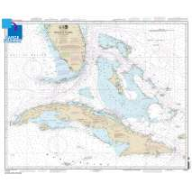 Gulf Coast Charts :Large Format NOAA Chart 11013: Straits of Florida and Approaches
