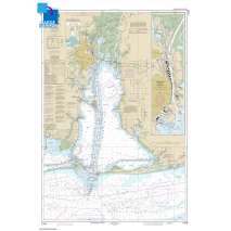Gulf Coast Charts :Large Format NOAA Chart 11376: Mobile Bay Mobile Ship Channel-Northern End