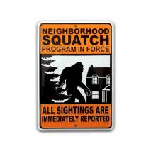 The Latest Bigfoot Stuff :NEIGHBORHOOD SQUATCH Metal Roadsign