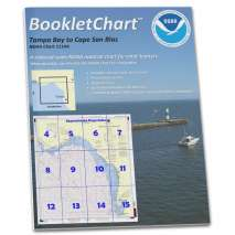 Gulf Coast Charts :NOAA Booklet Chart 1114A: Tampa Bay to Cape San Blas (Oil and Gas Leasing Areas)