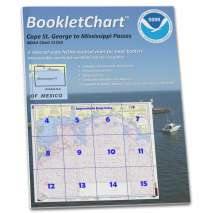 Gulf Coast Charts :NOAA Booklet Chart 1115A: Cape St. George to Mississippi Passes (Oil and Gas Leasing Areas)
