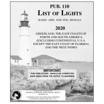 NGA List of Lights :Pub. 110 List if Lights: Greenland, East Coasts of N. and S. America and West Indies
