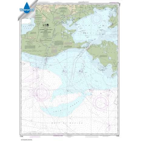 Waterproof NOAA Charts :Waterproof NOAA Chart 11349: Vermilion Bay and approaches