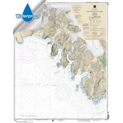Alaska Charts :Waterproof NOAA Chart 17301: Cape Spencer to Icy Point