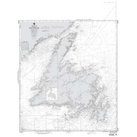 Region 1 - North America :NGA Chart 14024: Island of Newfoundland