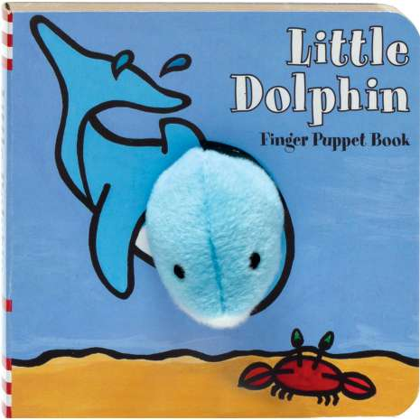 Fish, Sealife, Aquatic Creatures, Little Dolphin: Finger Puppet Book