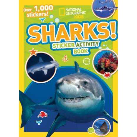 Stickers & Magnets :National Geographic Kids: Sharks Sticker Activity Book