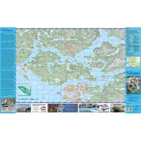 Canada :Broughton Archipelago and Johnstone Strait Recreation Map and Trip Planner