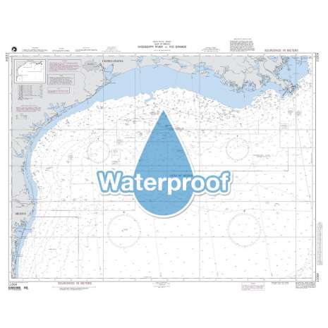 Region 1 - North America, Waterproof NGA Chart 11004: Mississippi River to Rio Grande