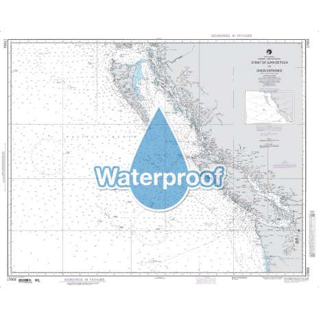 Region 1 - North America :Waterproof NGA Chart 17003: Strait of Juan de Fuca to Dixon Entrance