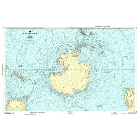 Miscellaneous International :NGA Chart 90: Antarctica