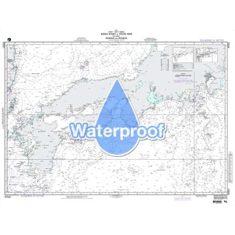 Region 9 - Eastern Asia, South Eastern Russia, Philippines, Waterproof NGA Chart 97021: Korea Strait to Tokyo - Wan