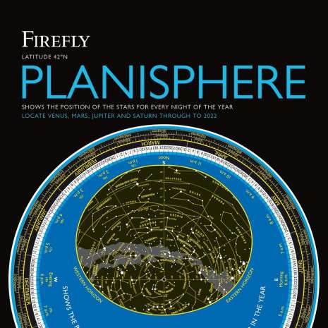 Astronomy & Stargazing :Firefly Planisphere: Latitude 42 Degrees North - 6th Ed.