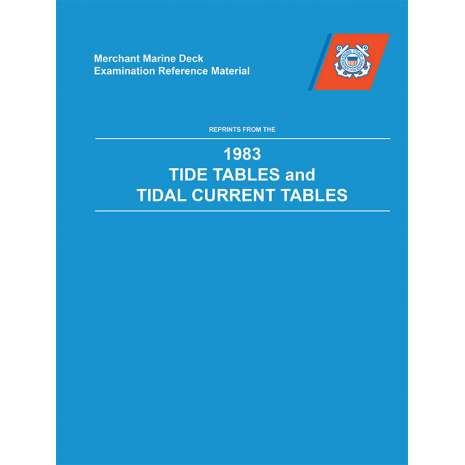 Professional Mariners, MMDREF Tide Tables & Tidal Current Tables 1983 (HARDCOVER)