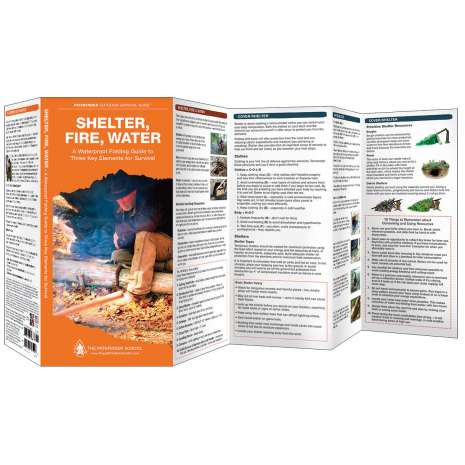 Wilderness & Survival Field Guides, Shelter, Fire, Water