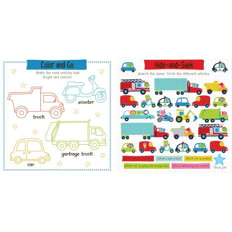 Boats, Trains, Planes, Cars, etc. :Super Sticker Activity: Things that Go