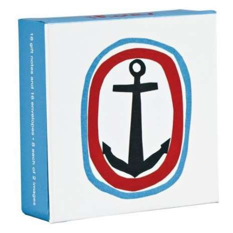 Postcards & Stationary :Ahoy! Mini FlipTop Notecards with Magnetic Closure