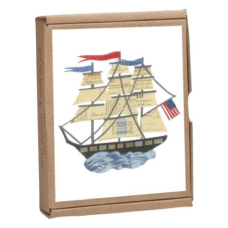 Postcards & Stationary :Tall Ship GreenNotes, full-color, eco-friendly, all occasion boxed notecard set