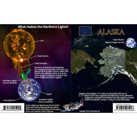 Astronomy Guides :Alaska Northern Lights Guide LAMINATED CARD