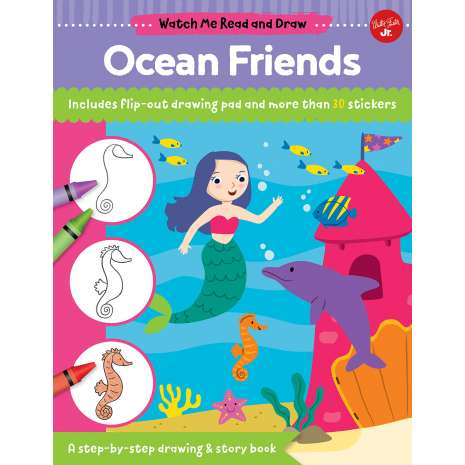 Drawing Books, Watch Me Read and Draw: Ocean Friends: A step-by-step drawing & story book