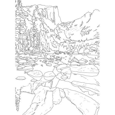 Adult Coloring Books, The National Parks Postcard Coloring Book: 20 Colorable Postcards of America's National Parks