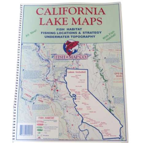 Fishing :Fish-n-Map: CALIFORNIA LAKE MAPS