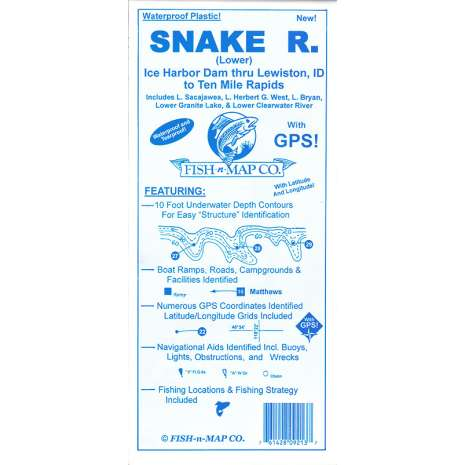 Pacific Northwest Travel & Recreation, Fish-N-Map: Snake River (Lower)