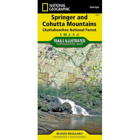 Florida and Southeastern USA Travel & Recreation :Springer and Cohutta Mountains (National Geographic Trails Illustrated Map)