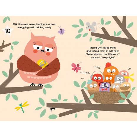 Board Books, 10, 9, 8.Owls Up Late!