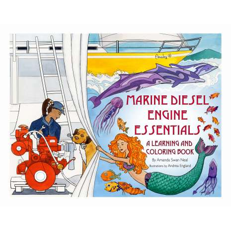 Adult Coloring Books, Marine Diesel Engine Essentials: A Learning and Coloring Book
