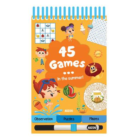 Activity Books, 45 Games: In the Summer