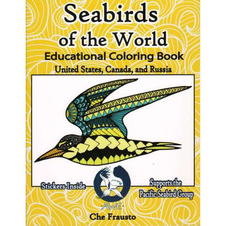 Birds, Seabirds of the World Educational Coloring Book
