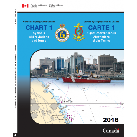 Canadian Hydrographic Charts, CHS Canadian Chart 1: Symbols, Abbreviations and Terms