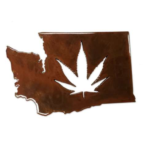 Cannabis & Counterculture Books :Washington Leaf MAGNET