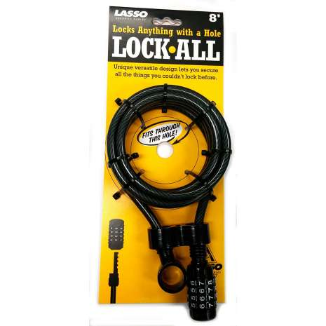 Lasso Locks :Lasso Master Lock-All Cable Utility Combination Lock Great for Guns