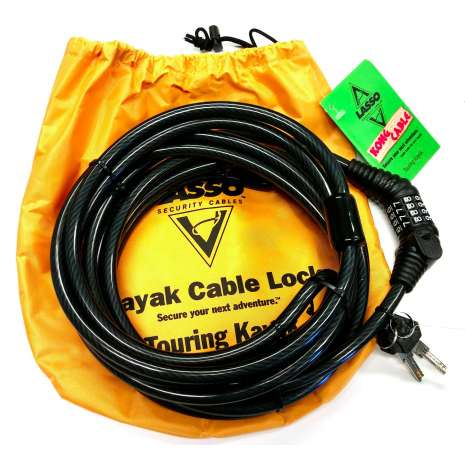 Lasso Locks :Lasso Kong Cable Kayak Lock for Closed Deck Touring Kayaks