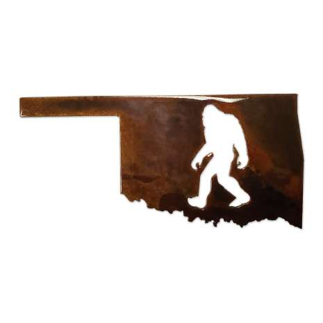 Bigfoot Novelty Gifts :Oklahoma Bigfoot Magnet