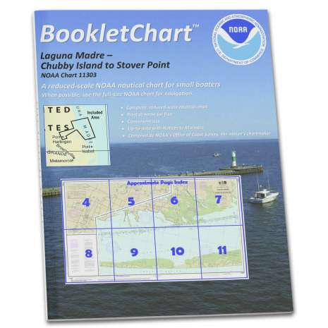 Gulf Coast Charts :NOAA BookletChart 11303: Intracoastal Waterway Laguna Madre - Chubby Island to Stover Point: in.
