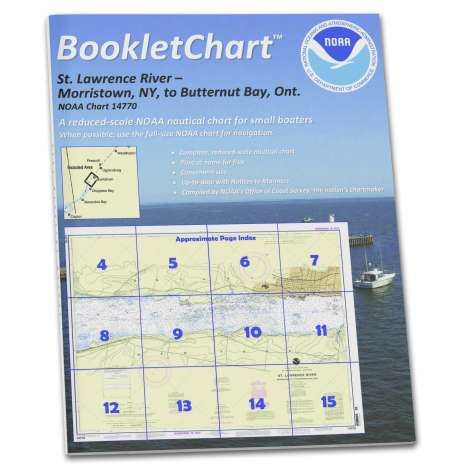 Great Lakes Charts :NOAA BookletChart 14770: Morristown: N.Y. to Butternut: ONT.