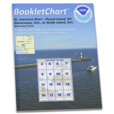 Great Lakes Charts :NOAA BookletChart 14774: Round I.: N.Y.: and Gananoque: ONT.: to Wolfe I.: ONT.