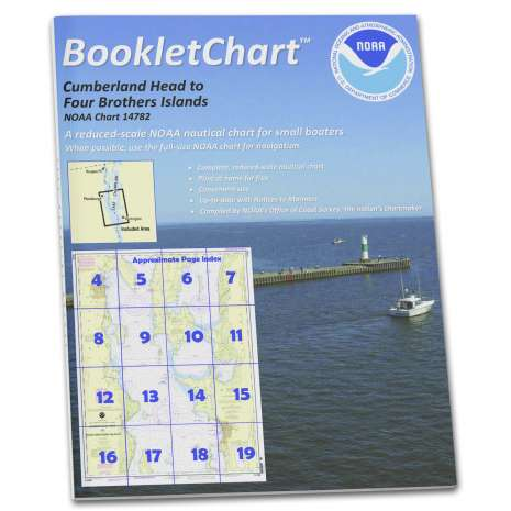 Great Lakes Charts :NOAA BookletChart 14782: Cumberland Head to Four Brothers Islands
