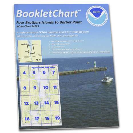 Great Lakes Charts :NOAA BookletChart 14783: Four Brothers Islands to Barber Point