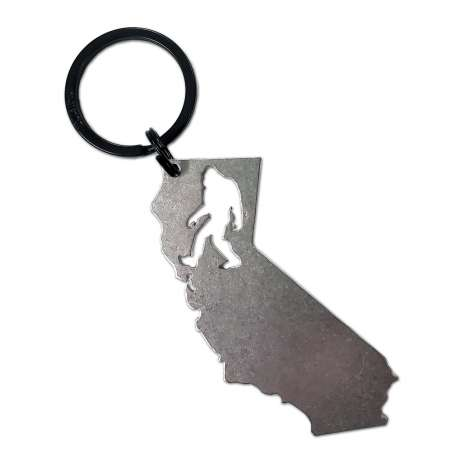 Bigfoot Metal Art :California Bigfoot KEYCHAIN
