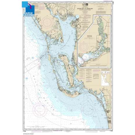 Gulf Coast Charts :Large Format NOAA Chart 11426: Estero Bay to Lemon Bay: including Charlotte Harbor;Continuation of Peace River
