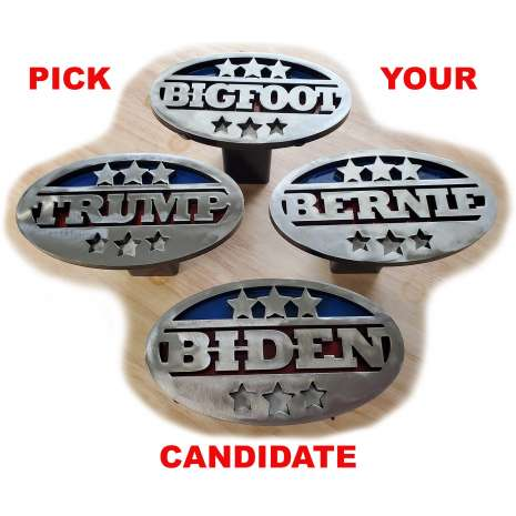 Magnets & Metal Art :BIDEN Trailer Hitch Cover - Heavy duty steel - Made in USA