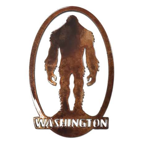 Bigfoot Metal Art :Crytpid w/ Washington Oval MAGNET