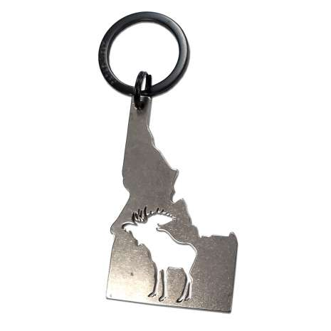 Bottle Openers & Keychains :Idaho with Moose KEYCHAIN